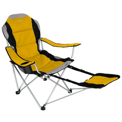 Xscape Padded Sportline Quad-Fold Chair with Carrying Case - Yellow/ Black/ Light Gray