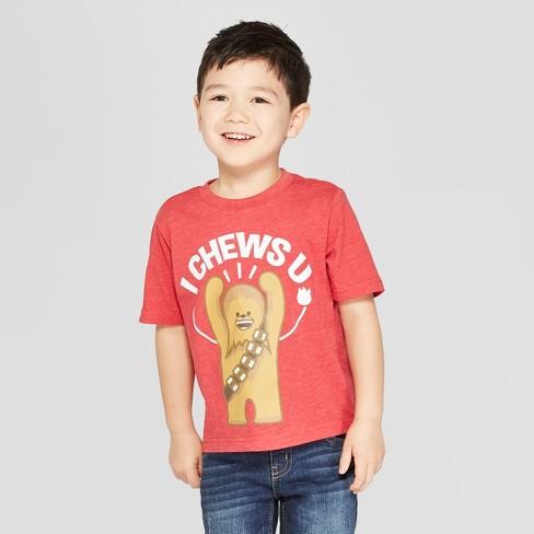 Toddler Boys' Star Wars Short Sleeve T-Shirt - Red - image 1 of 8