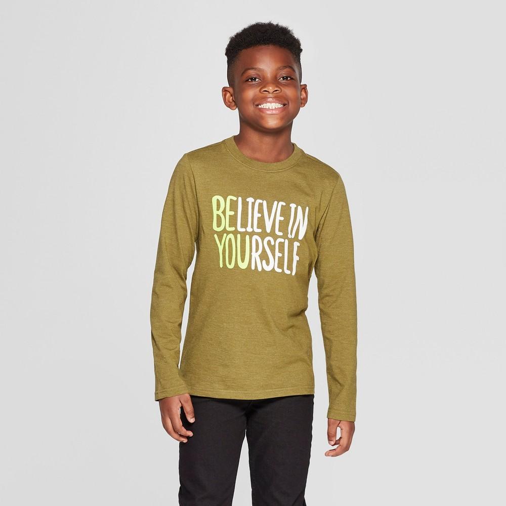 Boys' Long Sleeve Be You Graphic T-Shirt - Cat & Jack Green Xxl