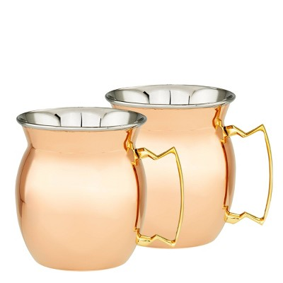 Old Dutch 16oz 2pk Stainless Steel Moscow Mule Mugs Copper
