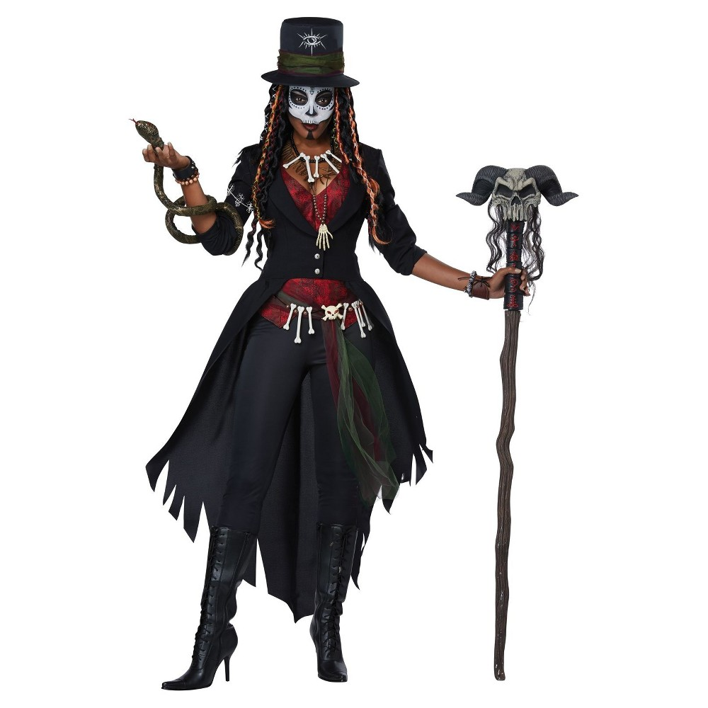 Women's Voodoo Magic Adult Costume Large, Multicolored