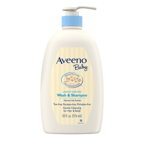 Aveeno Baby Gentle Wash And Shampoo with Natural Oat Extract - 33fl.oz - image 1 of 10