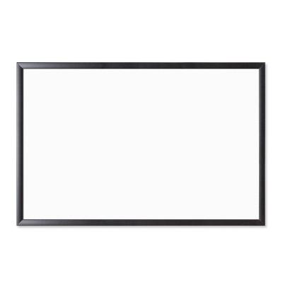 """U Brands 35""""x23"""" Magnetic Dry Erase Board Black Frame"""