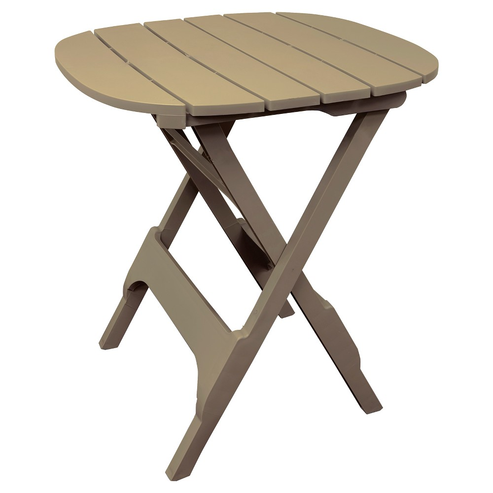 Image of 34 Quik Fold Square Bistro Table - Tan - Adams, White