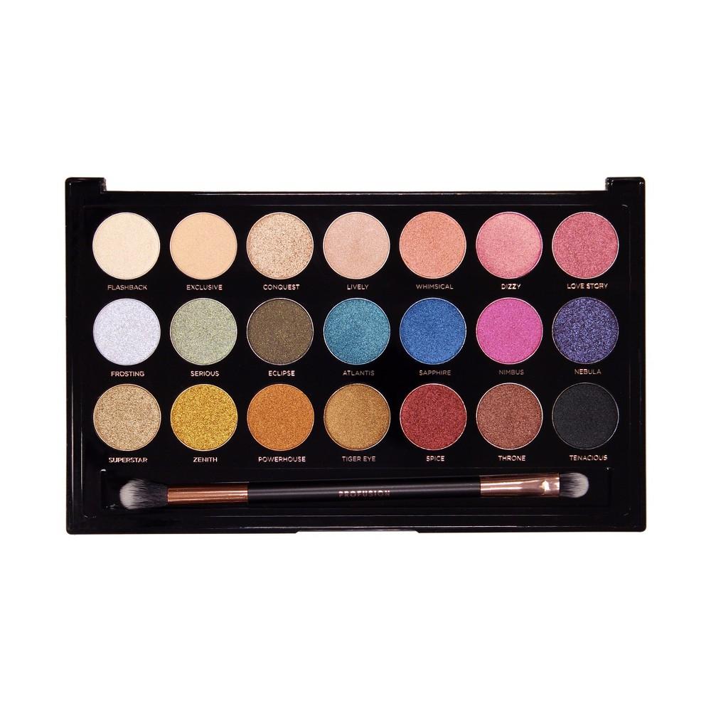 Profusion Cosmetics Metallics 21 Shade Eyeshadow Palette - 10oz, Multi-Colored