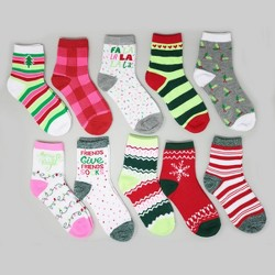 10pk Women's Socks Adult Size 9-11 - Bullseye's Playground™