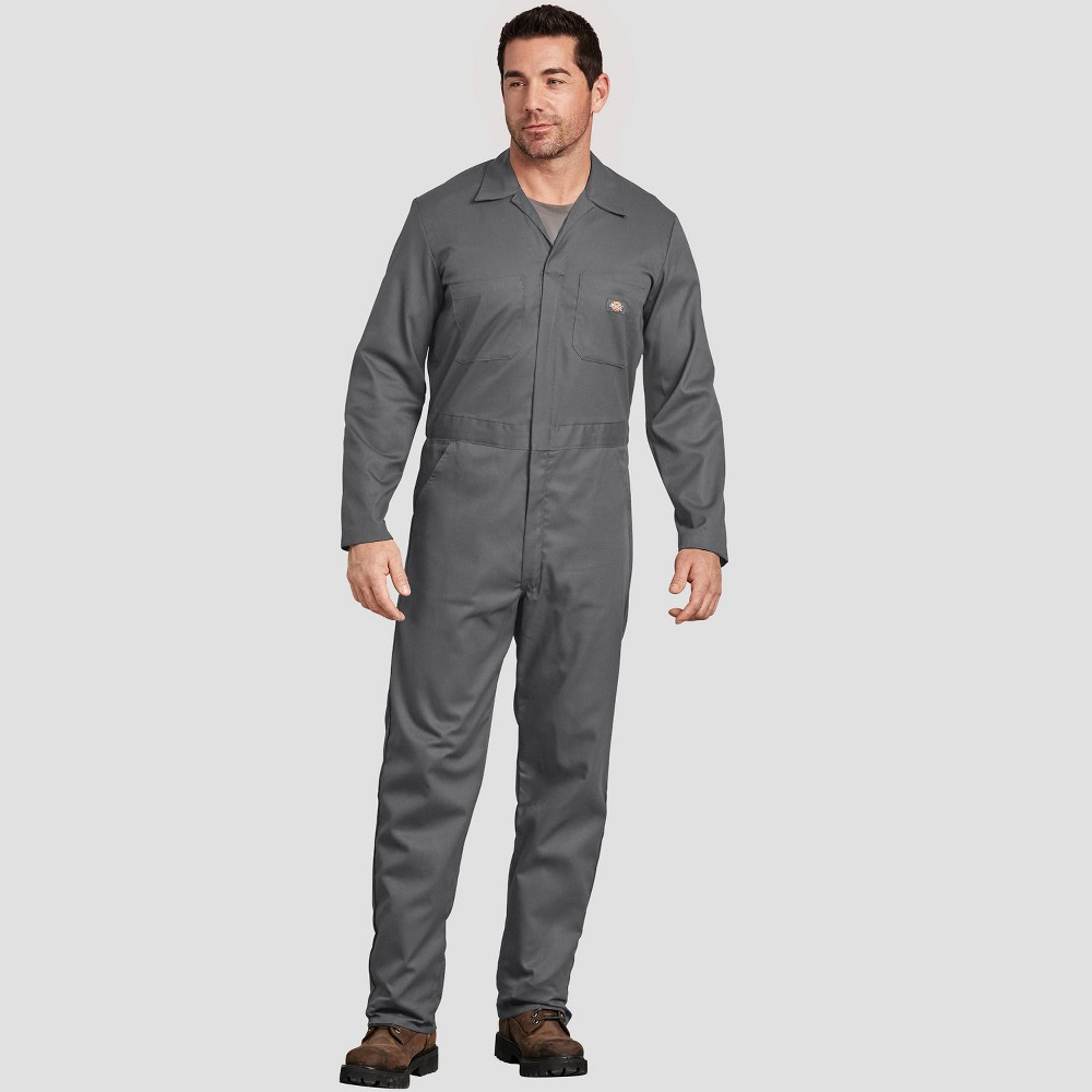Dickies Men's Tall Straight Fit Overalls - Gray MT