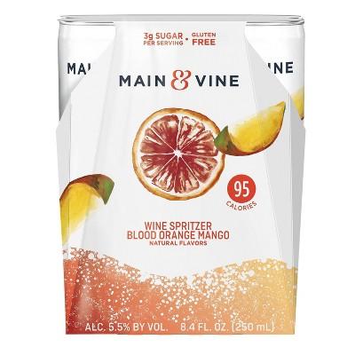 Main & Vine Blood Orange & Mango Wine Spritzer - 4pk/8.4 fl oz Cans