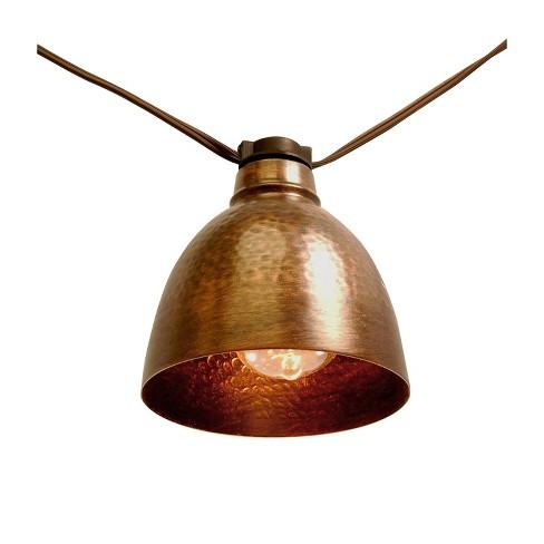 10 Lights Metal Electric Caf String Lights Bronze - image 1 of 4