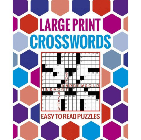 large print crosswords : easy to read puzzles (paperback) : target