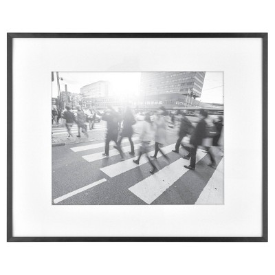 "16"" x 20"" Matted to 11"" x 14"" Thin Gallery Frame Black - Project 62™"