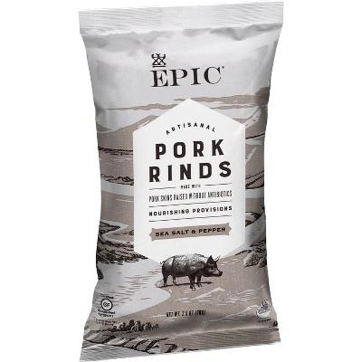 EPIC Sea Salt & Pepper Pork Rinds - 2.5oz