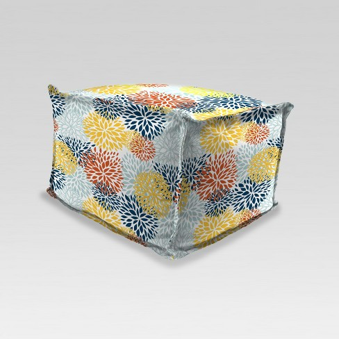 Outdoor Boxed Edge Pouf/Ottoman - Jordan Manufacturing - image 1 of 2