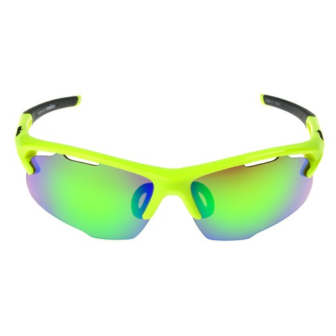 088ef606ba Men s Ironman Ironflex Polarized Wrap Blade Sport Sunglasses   Target