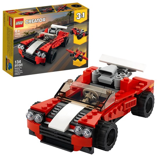LEGO Creator 3-in-1 Sports Car Building Kit 31100 image number null