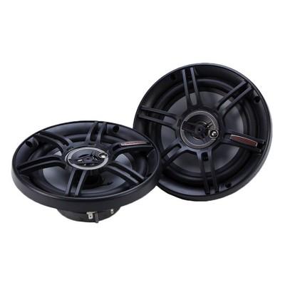 Crunch 300 Watts 6.5-Inch 3-Way 4 Ohms Steel Basket CS Speakers, Black   CS-653
