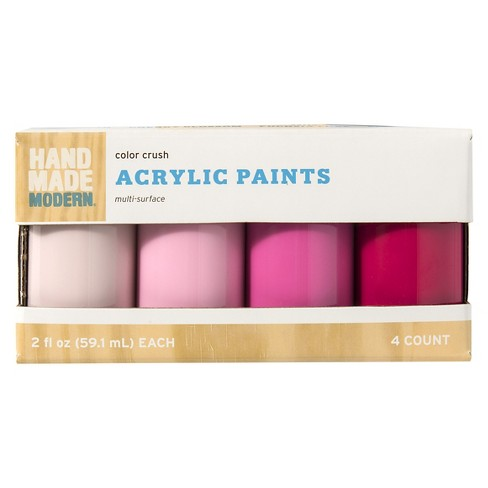 Hand Made Modern 2oz Satin Acrylic Paint Set Color Crush Target