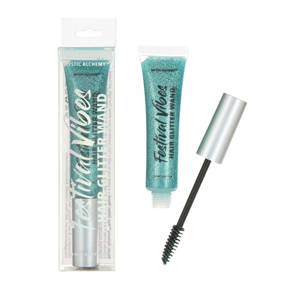 Image of Mystic Alchemy Festival Vibes Hair Glitter Wand - Teal - 20ml