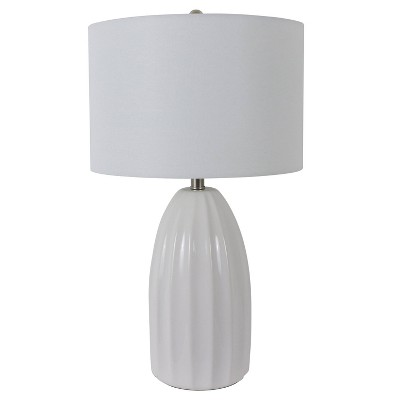 """27"""" Cannon Crackle Table Lamp White - Decor Therapy"""