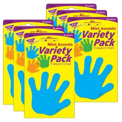 6pk Handprints Mini Accents Variety Pack - TREND