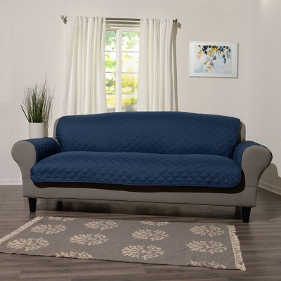 Reversible Sofa Furniture Protector with Arms Indigo - Sure Fit