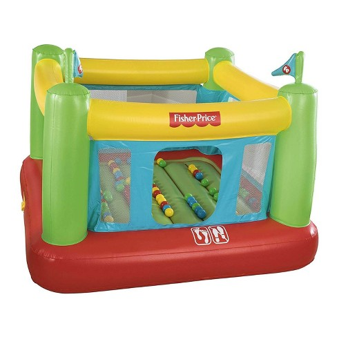 Fisher Price 93532E Indoor Kids Inflatable Bounce House w/ Built-in Pump & Balls - image 1 of 4