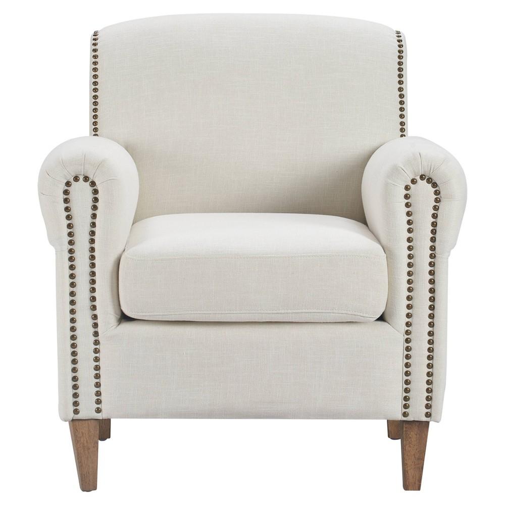 Elmhurst Accent Chair Ivory Linen - Finch Reviews