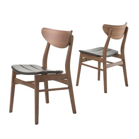 Anise Dining Chair Dark Brown Set Of 2 Christopher Knight Home
