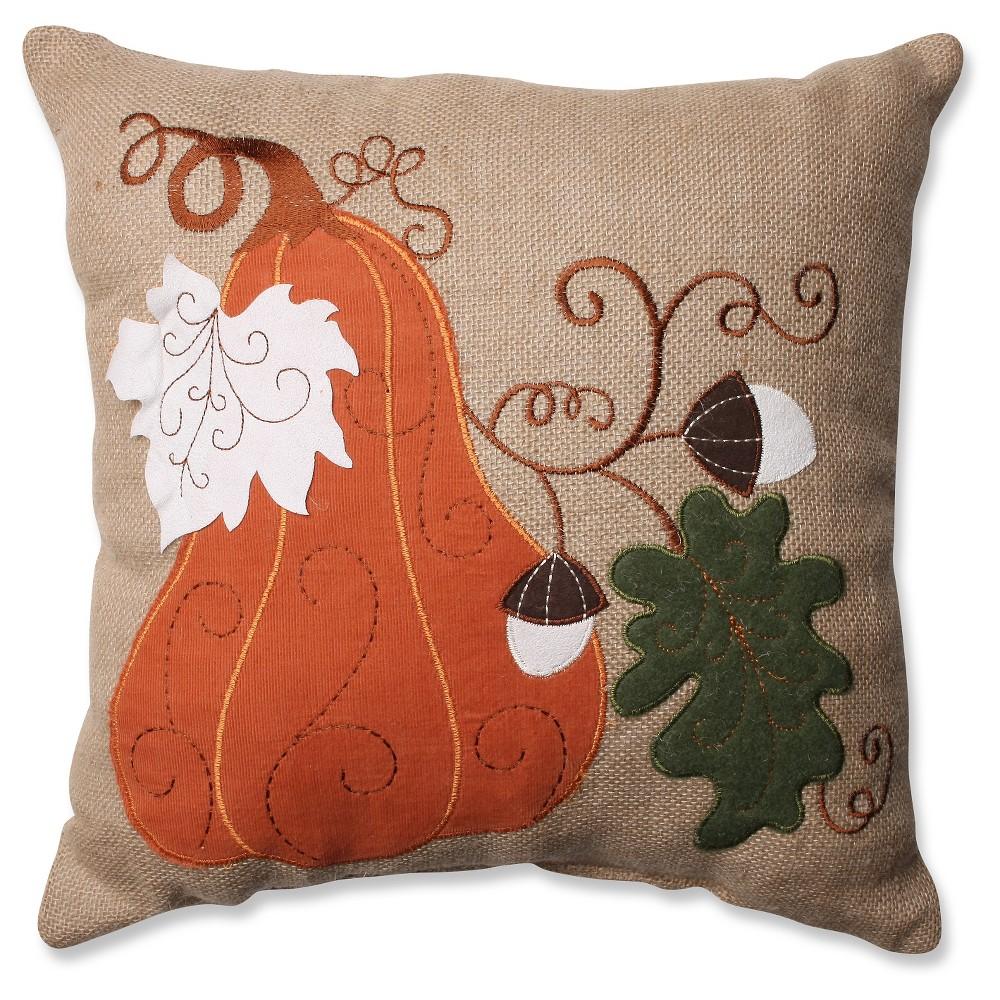 Perfect Harvest Squash Burlap Throw Pillow