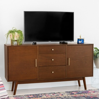 """Mid-Century Modern Wood Console TV Stand for TVs up to 65"""" - Saracina Home"""