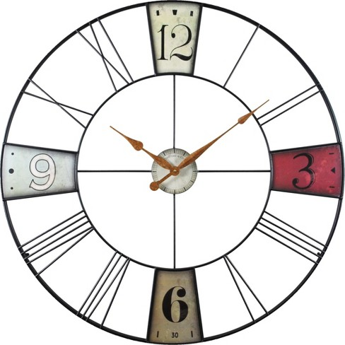 "Vibrant Plaques 36"" Round Wall Clock - FirsTime® - image 1 of 2"