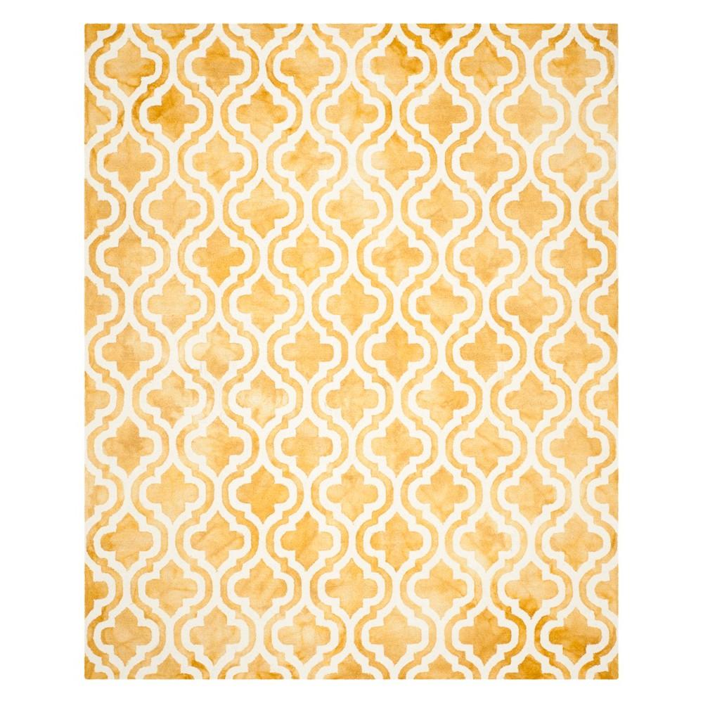 8'X10' Quatrefoil Design Area Rug Gold/Ivory - Safavieh