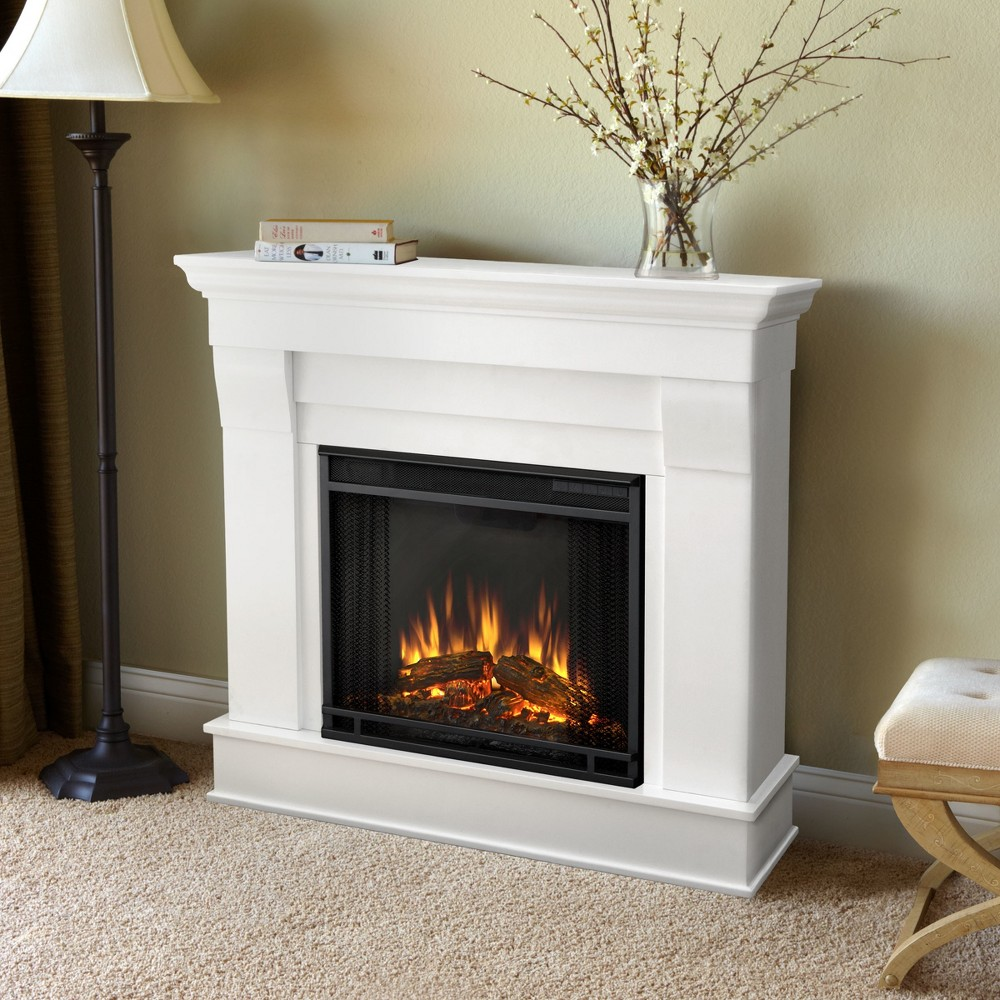 Real Flame - Chateau Electric Fireplace-White, White