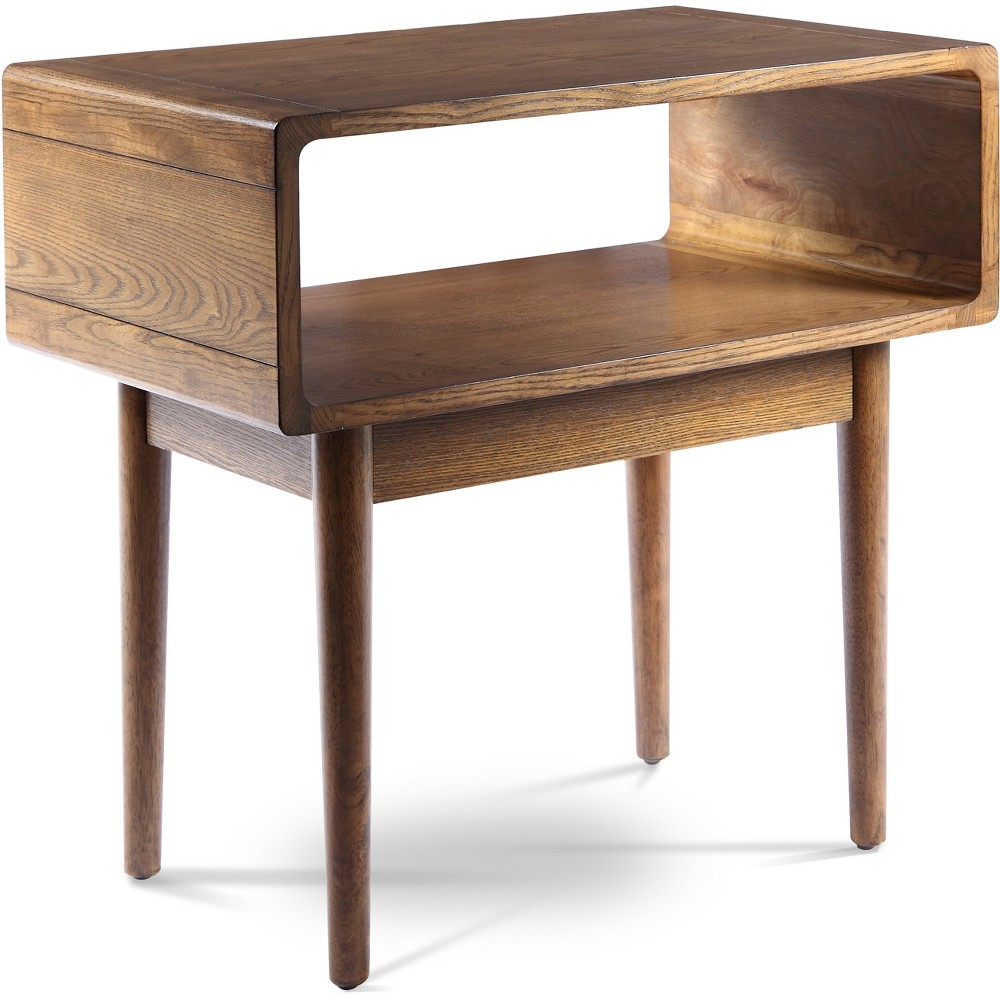 Image of Darden Mid Century End Table Deco Walnut Brown - Haven Home