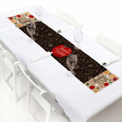 Big Dot of Happiness Rosh Hashanah - Petite New Year Paper Table Runner - 12 x 60 inches