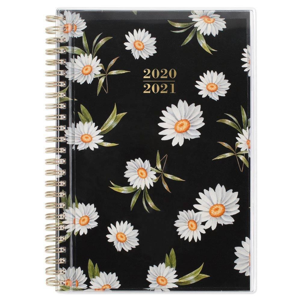 "Image of ""2020-21 Academic Planner 5.5"""" x 8.5"""" Layla Black Floral - Cambridge"""