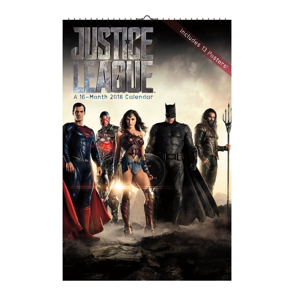 2018 The Justice League (Movie) Oversized Wall Calendar - Trends International, Multi-Colored