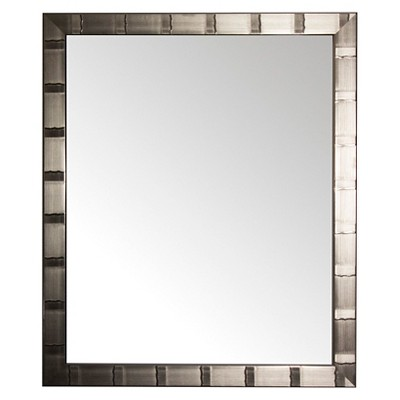 28  x 34  Creekside Collection Silver Beveled Glass Wall Mirror Silver - Alpine Art and Mirror