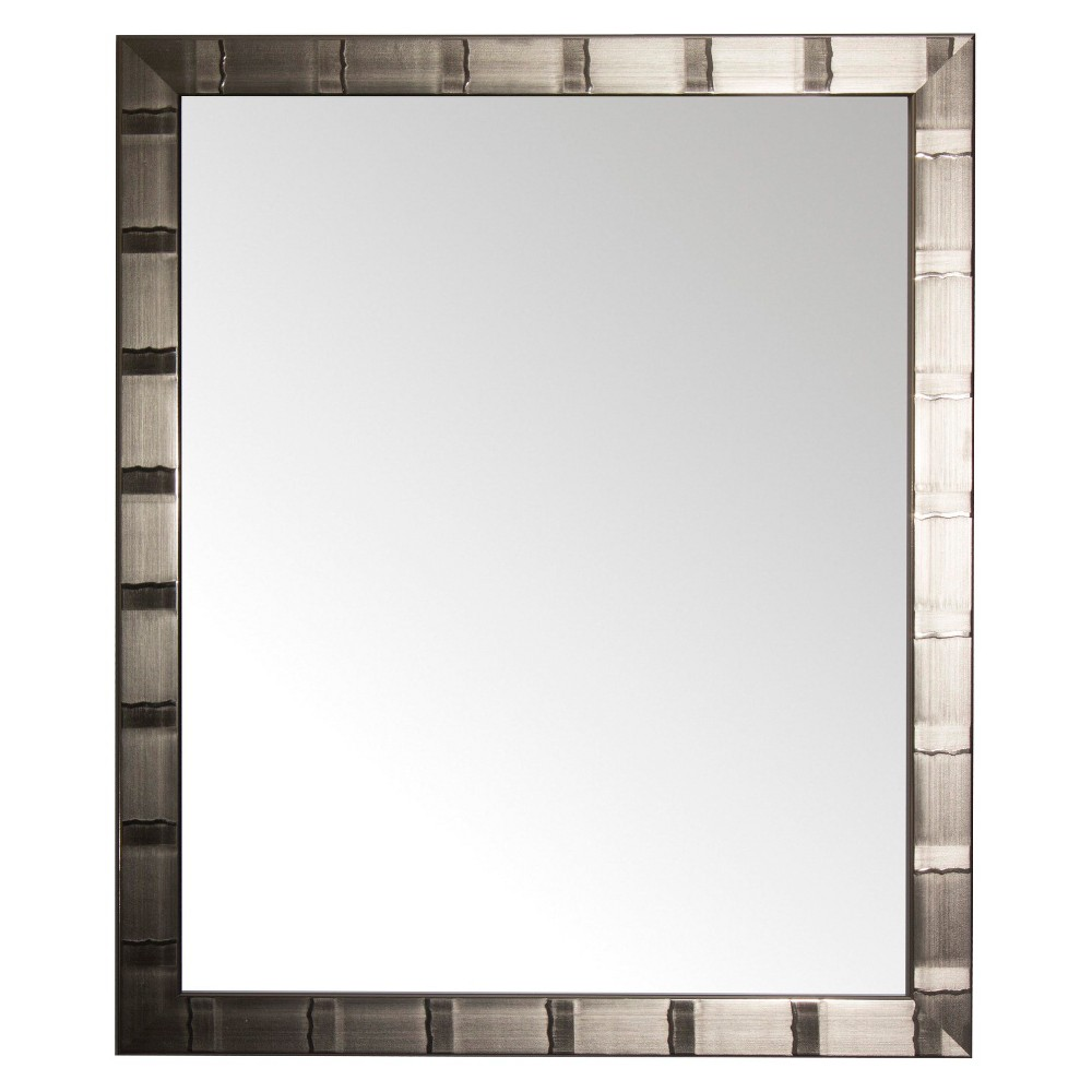 "Image of ""28"""" x 34"""" Creekside Collection Silver Beveled Glass Wall Mirror Silver - Alpine Art and Mirror"""