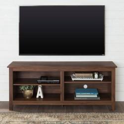 "58"" Rustic Weathered Wood TV Stand - Saracina Home"