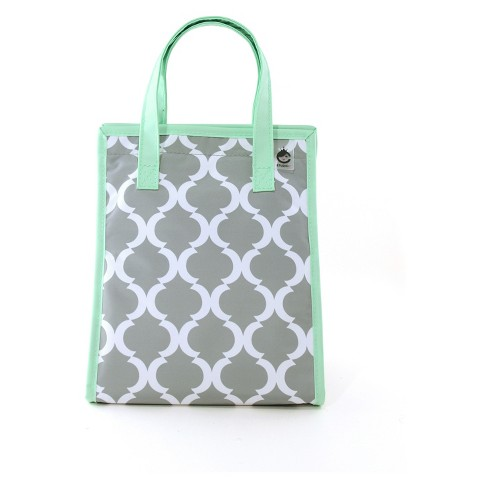 Studio C One Hip Chic Lunch Tote Gray Mint