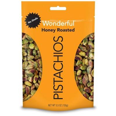 Wonderful Pistachios No Shells Honey Roasted - 5.5oz