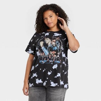 Women's Bowie Short Sleeve Graphic T-Shirt - Black Tie-Dye