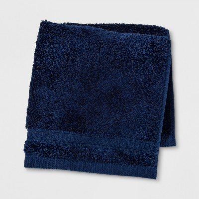 Soft Solid Washcloth Navy Blue - Opalhouse™