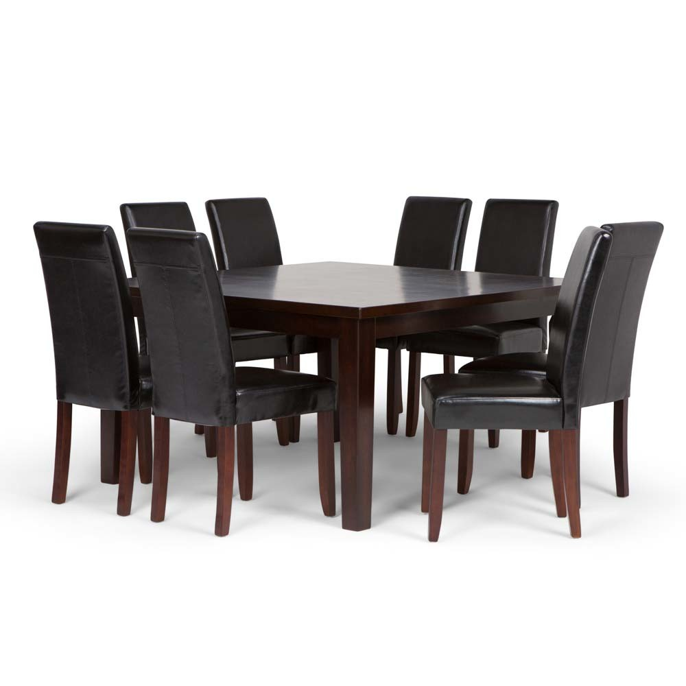 Normandy Solid Hardwood 9pc Dining Set Midnight Black - Wyndenhall