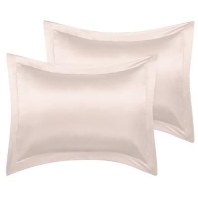 2 Pcs Silk Satin Soft Pillowcase Light Tan - PiccoCasa