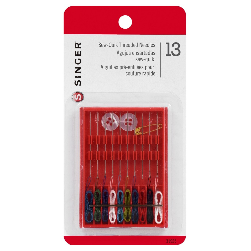 Singer Sew-Quik Threaded Needles, Multi-Colored