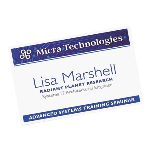 avery additional white laser inkjet insert for badge holder 2 1 4 x