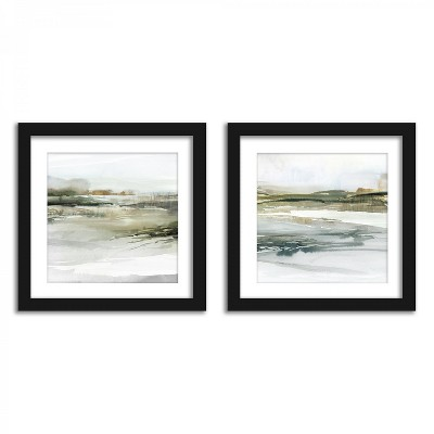 Americanflat Watercolor Landscapes - Set of 2 Framed Prints by PI Creative