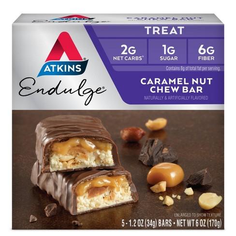 Atkins Endulge Chew Bar - Caramel Nut - 5ct - image 1 of 3